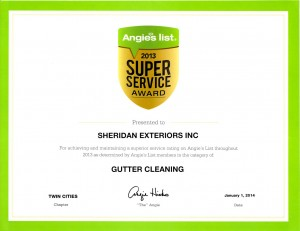 Angies list award gutter cleaning